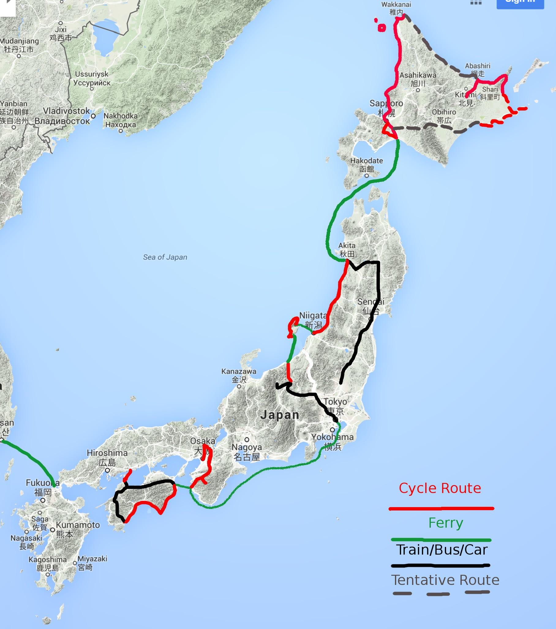 Japan Route 2016