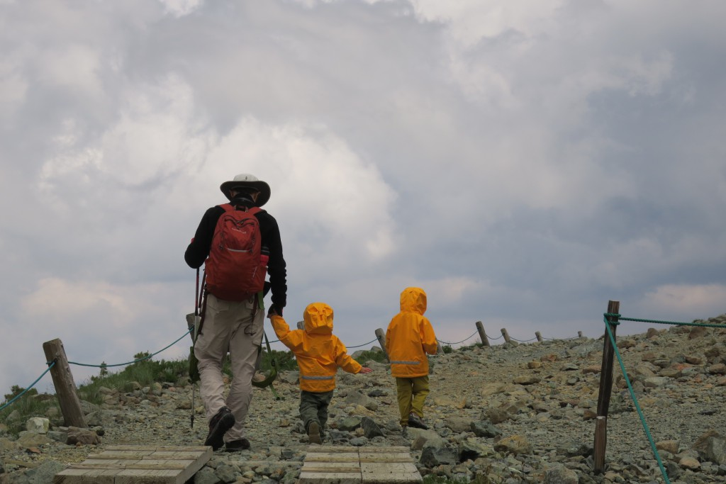 Little Hikers on Ridge